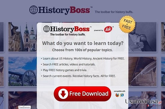 HistoryBoss Toolbar snapshot
