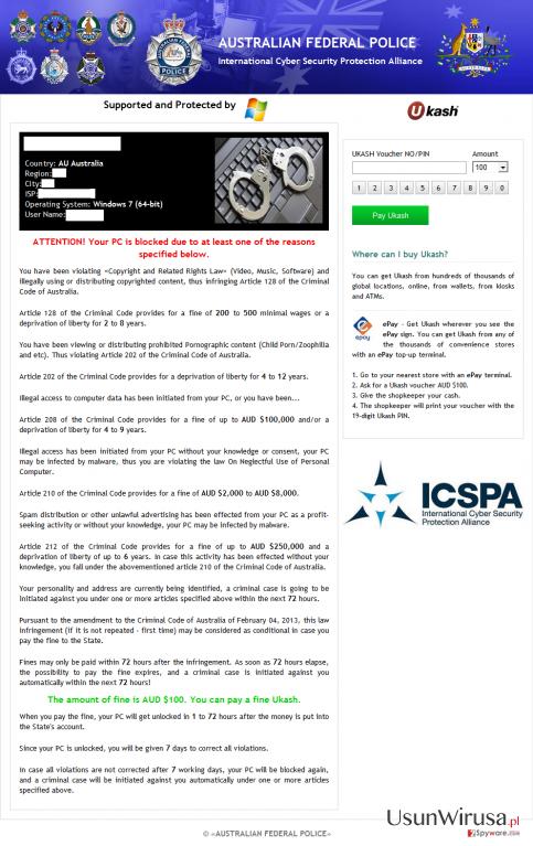 ICSPA virus snapshot