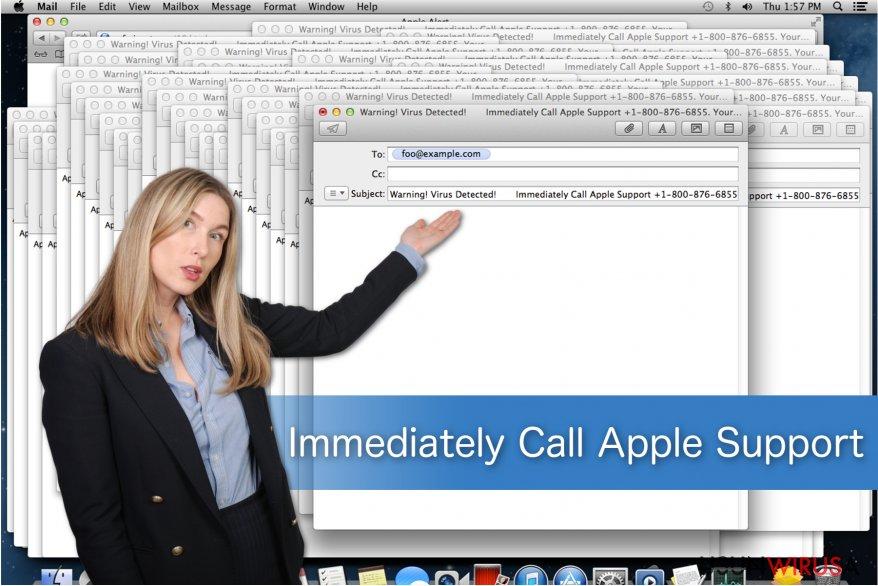 """Przedstawienie oszustwa """"Immediately Call Apple Support"""""""