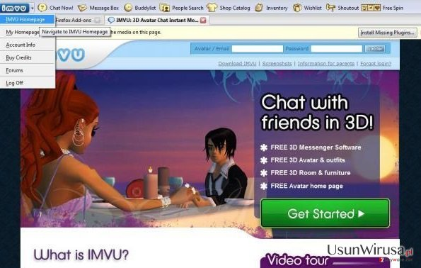 IMVU Toolbar snapshot