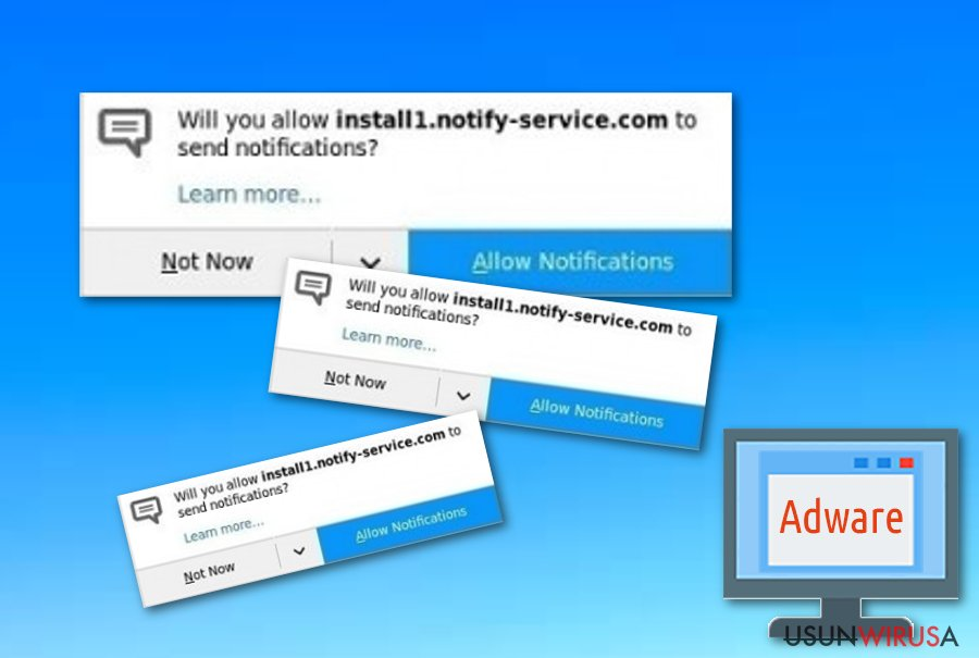 Program adware Install.notify-service.com