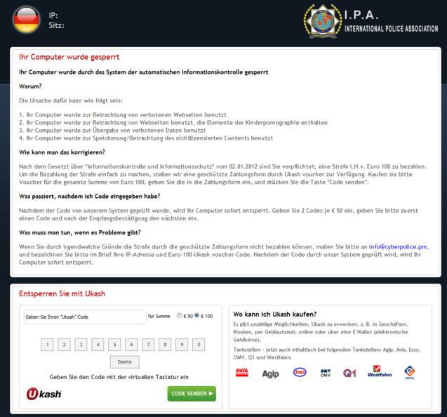 International Police Association virus snapshot