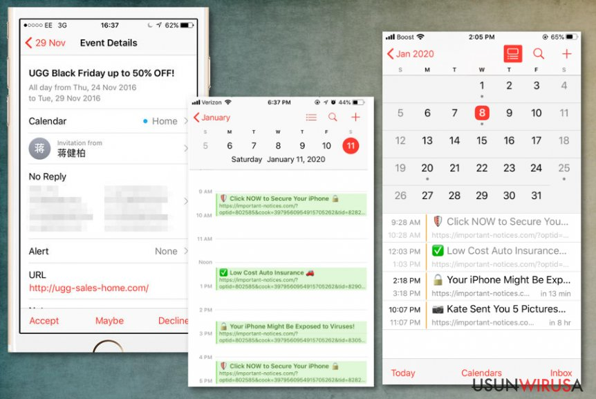 Spam Calendar