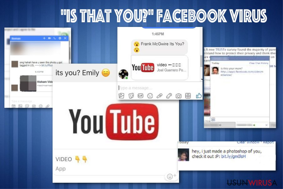 "Wirus Facebooka ""Is that you"" snapshot"