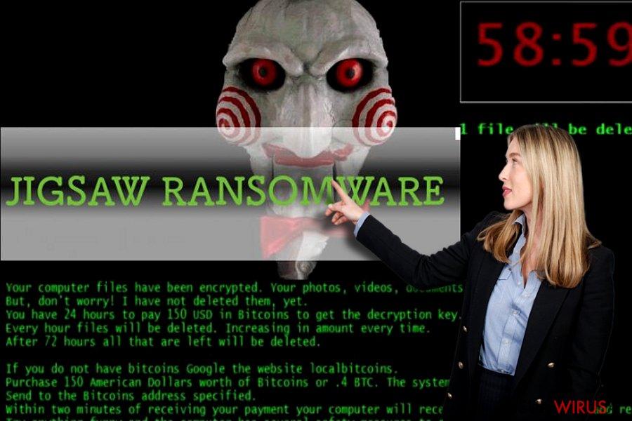 Wirus Jigsaw ransomware snapshot
