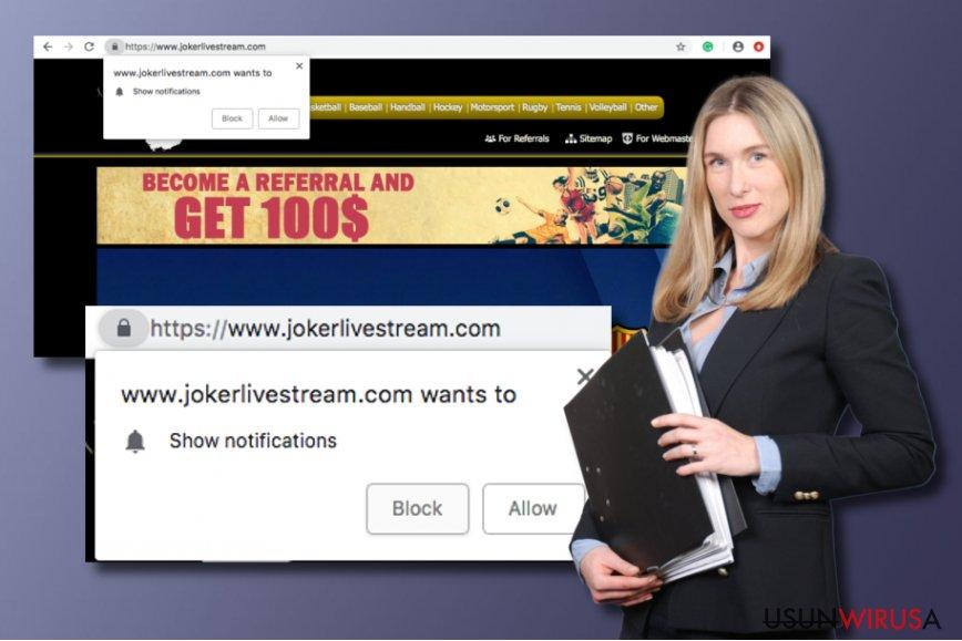 Potencjalnie niechciany program Jokerlivestream.com