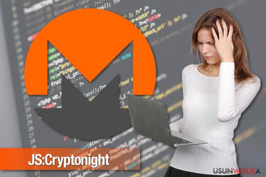 Zdjęcie malware'a JS:Cryptonight
