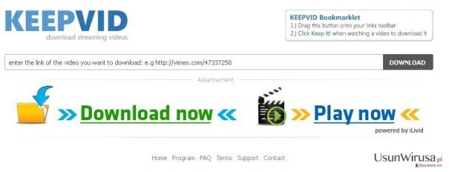 KeepVid.com snapshot