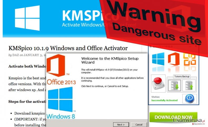 One of KMSPico malware download sources