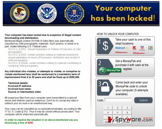 Kovter ransomware snapshot