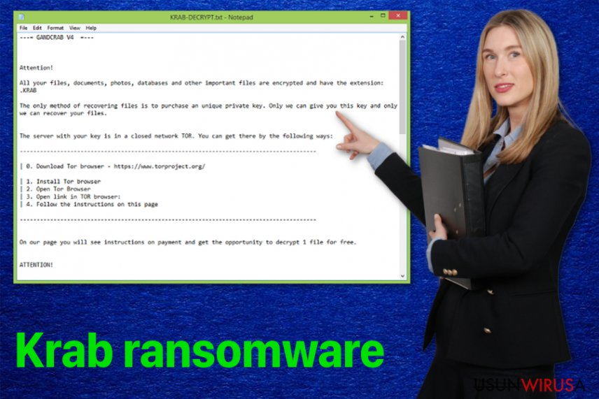 Wirus ransomware Krab