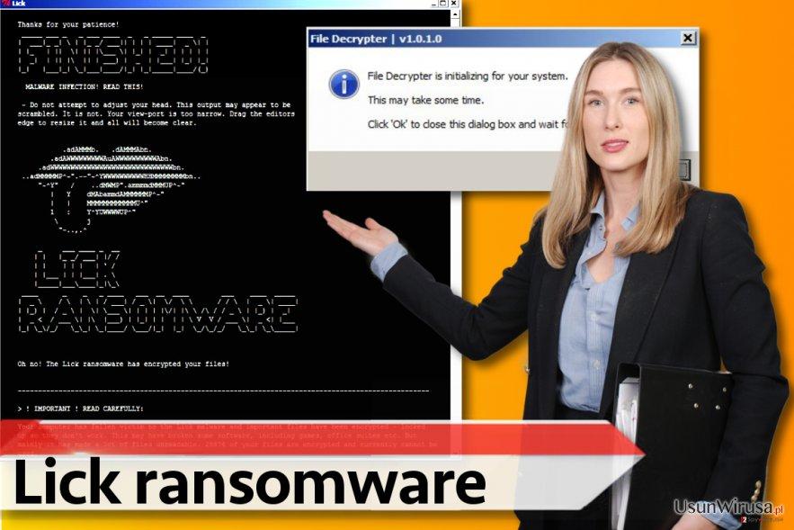 Wersja ransomware Lick
