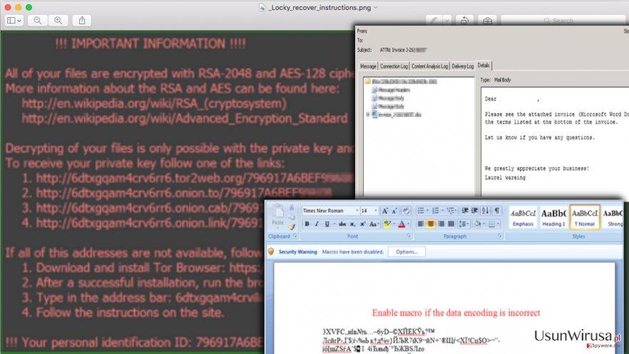 Ransomware Locky snapshot
