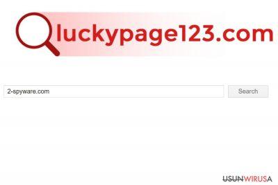 Zrzut ekranu z Luckypage123.com