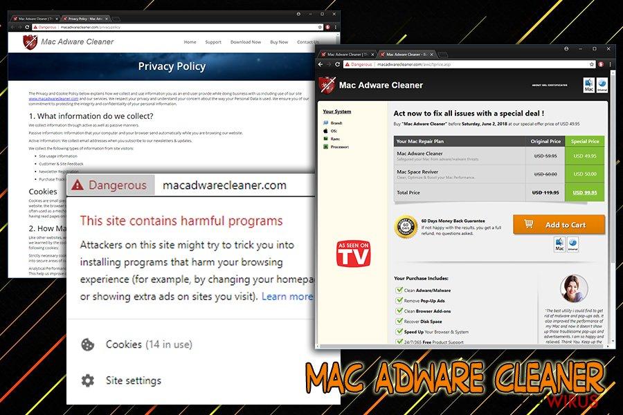 Niepożądana aplikacja Mac Adware Cleaner