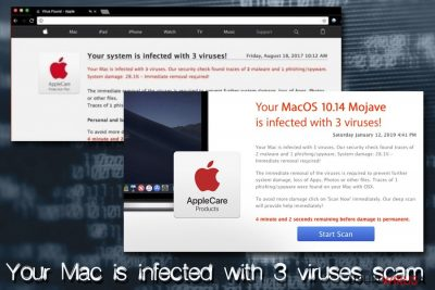 Wirus Mac - Your Mac is infected with 3 viruses