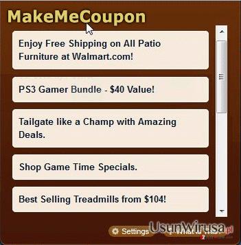 Reklamy MakeMeCoupon snapshot