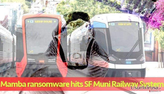 System kolejowy Muni zaatakowany przez Mambę.