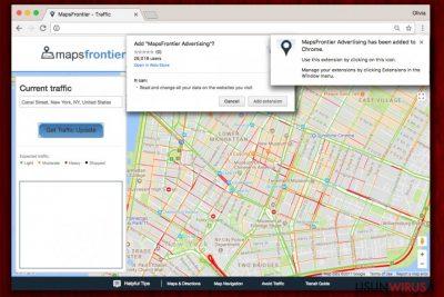 Wyskakujące okienka Maps Frontier