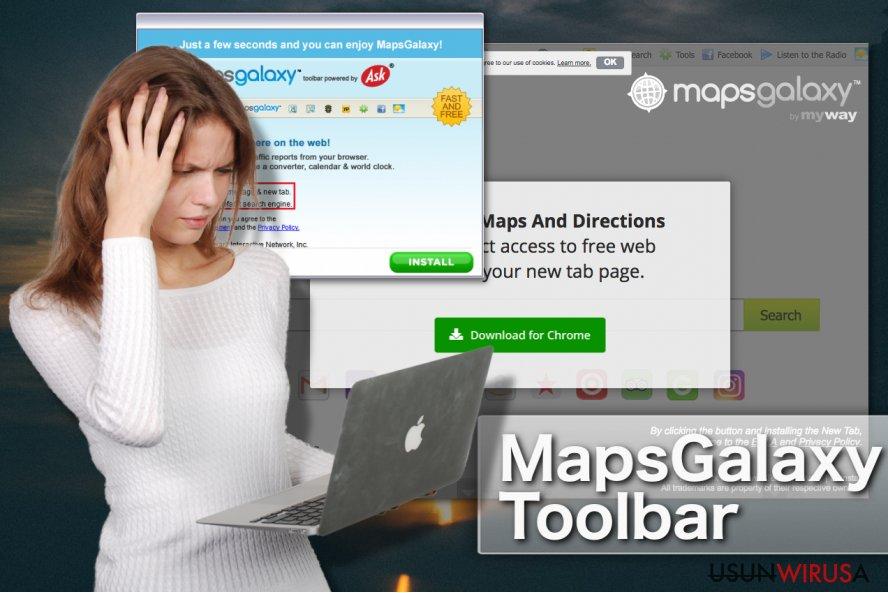 Pasek narzędziowy MapsGalaxy snapshot