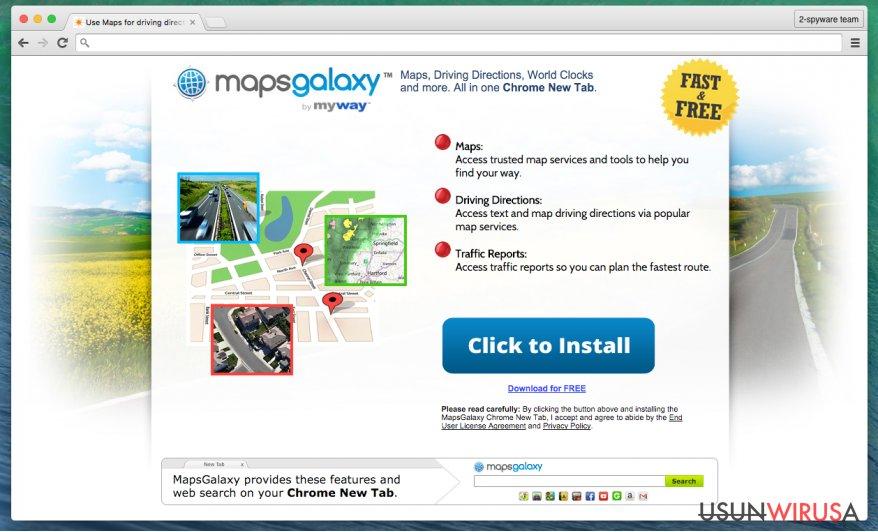 Pasek narzędziowy MapsGalaxy