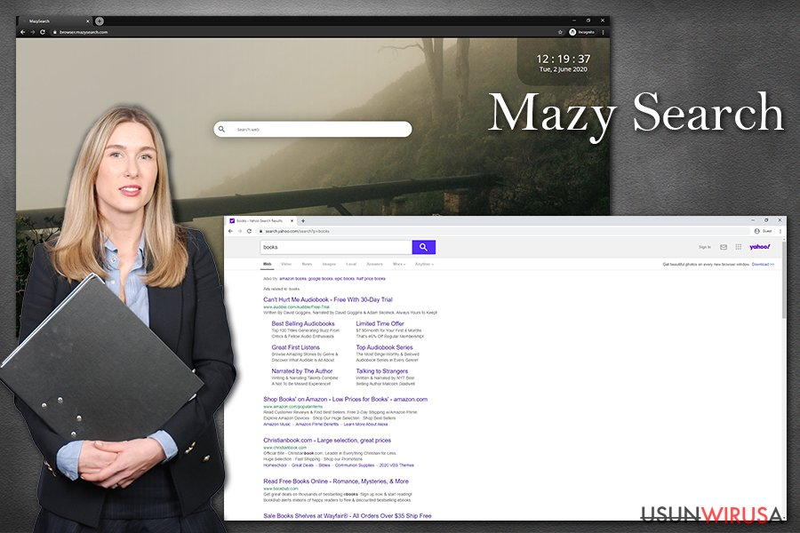 Porwanie przeglądarki przez Mazy Search