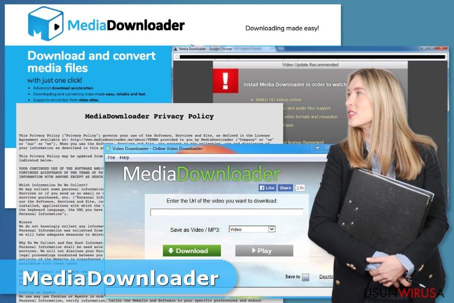 Prezentacja wirusa Media Downloader