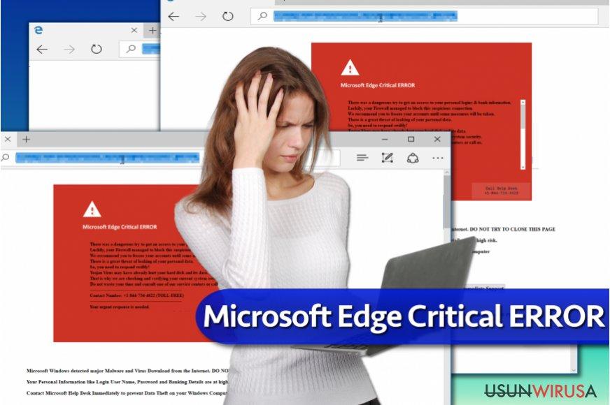 """Oszustwo """"Microsoft Edge Critical ERROR"""""""