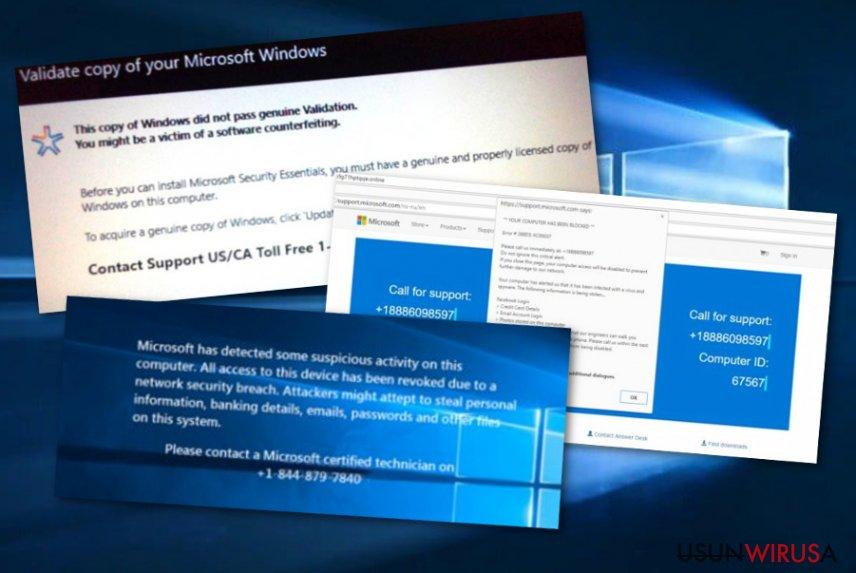 Oszustwo pomocy technicznej Microsoft