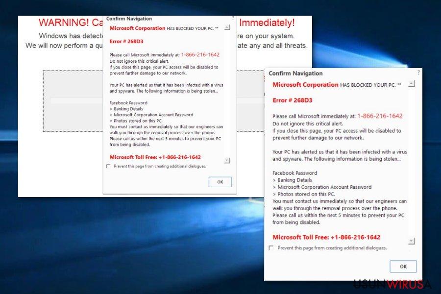 Oszustwo Microsoft Support