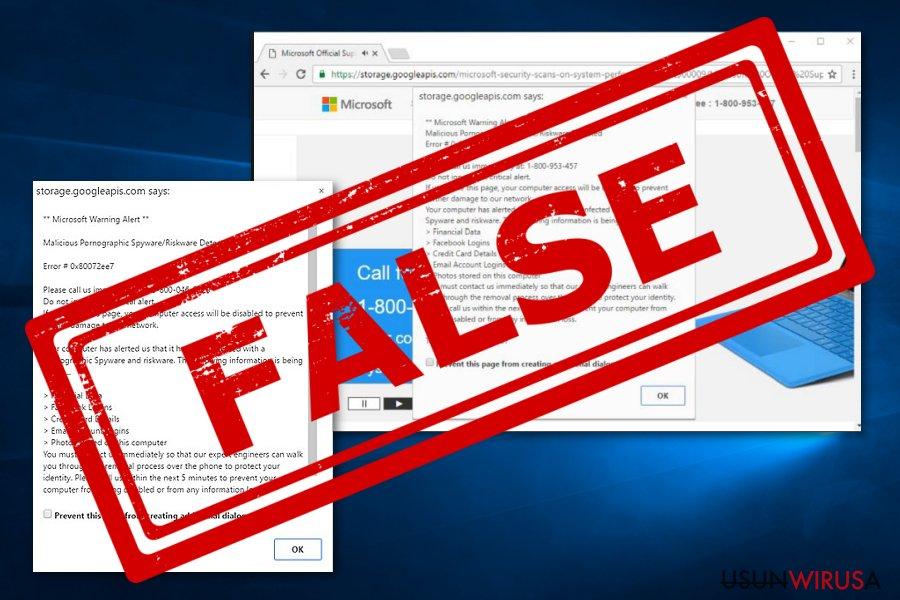 Microsoft Warning Alert wirus