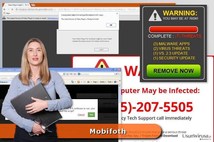 Przykład reklam Mobifoth