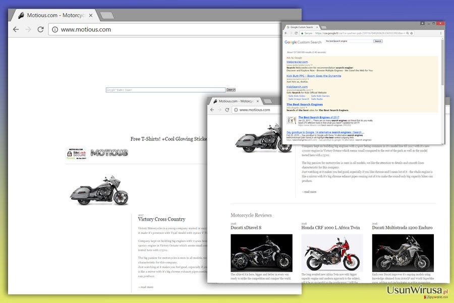 Obraz wirusa Motious.com