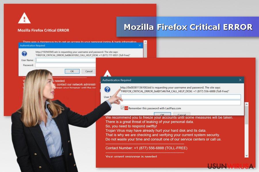Fałszywy Błąd Krytyczny Mozilla Firefox