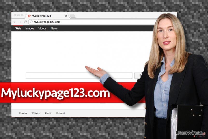 Fałszywa wyszukiwarka Myluckypage123.com