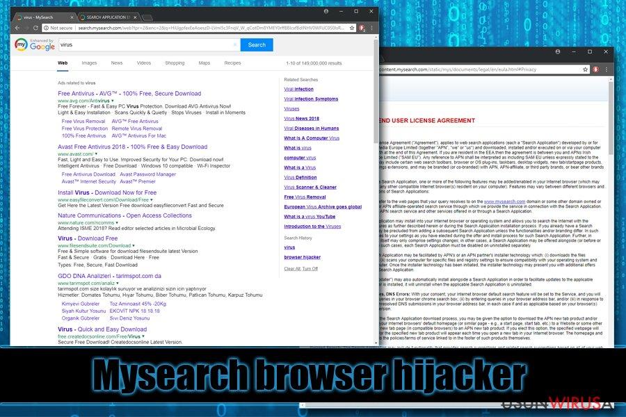 Porywacz przeglądarki Mysearch