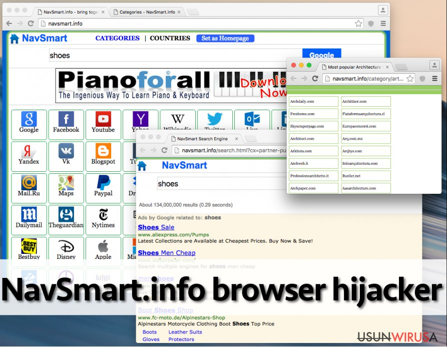 NavSmart.info hijacker can cause various problems