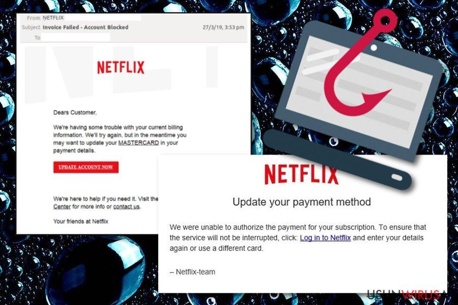 Oszustwo mailowe Netflix