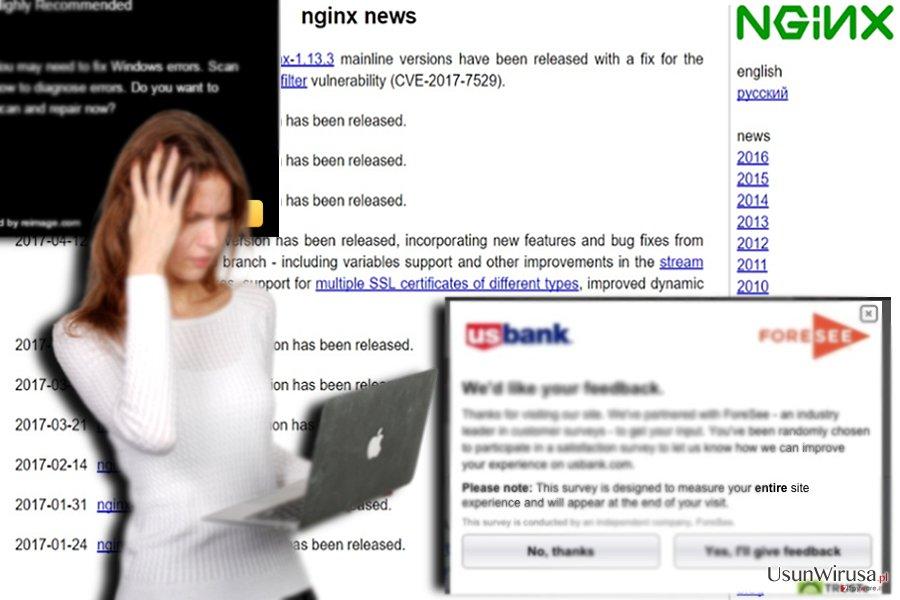 Przykład powiązanej strony - nginx.org