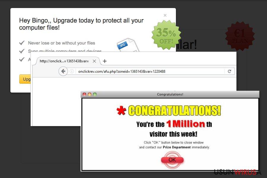 Przykład przekierowania Onclickrev.com