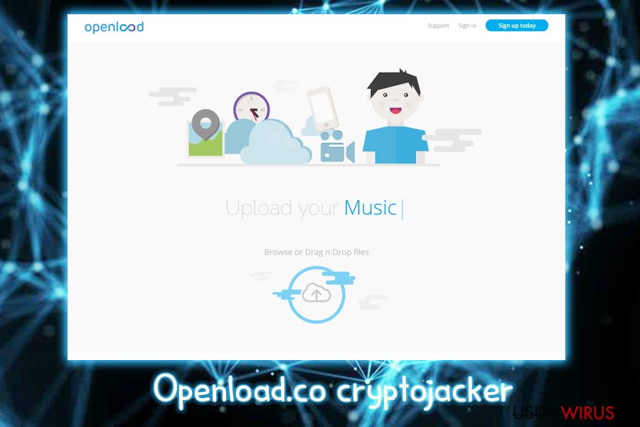 Krypto-jacker Openload.co