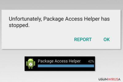 Przykłady błędu Package Access Helpera