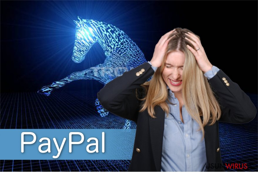 Ilustracja wirusa Paypal