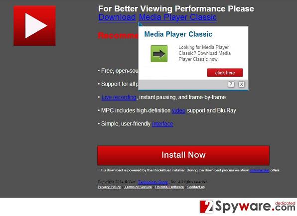 Wirus PcUpgradeNow.com pop-up snapshot