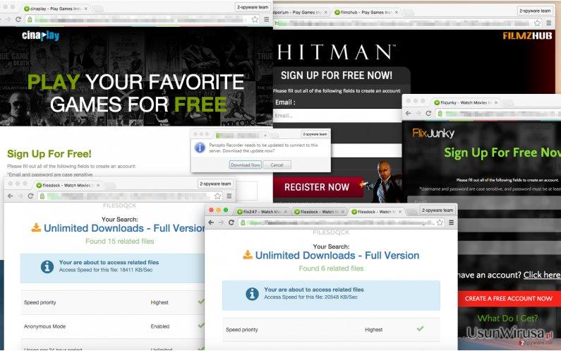 Pdfiler.com hijacks coputer system and spams the screen with Pdfiler.com ads