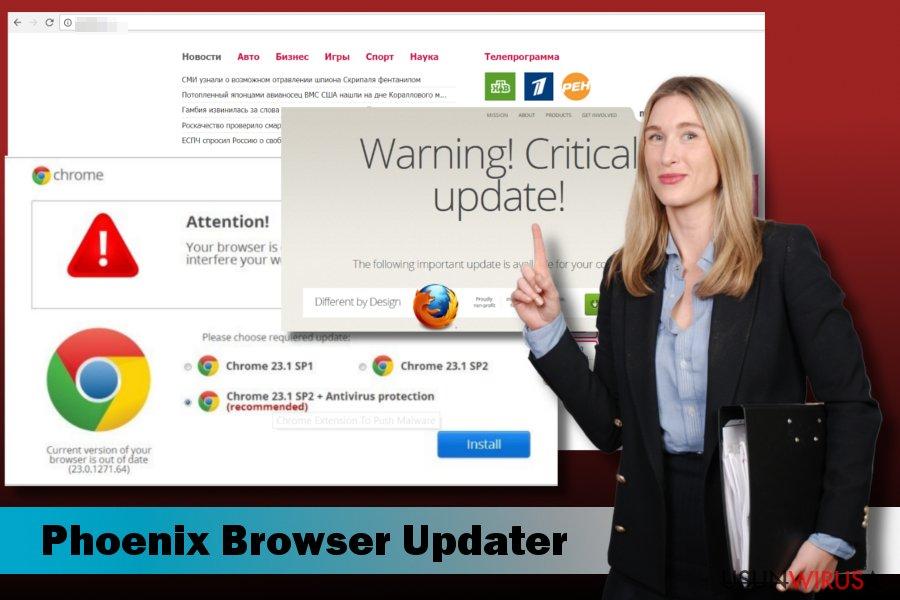 Prezentacja malware Phoenix Browser Updater