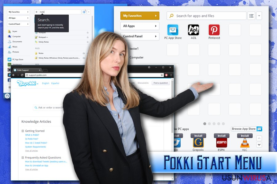 Wirus Pokki Start Menu