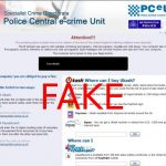 Police Central e-crime Unit virus snapshot