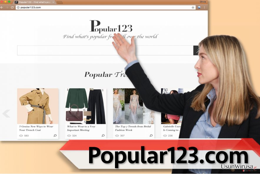 Wirus przekierować Popular123.com