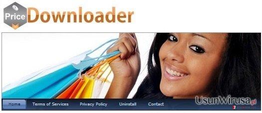 PriceDownloader adware snapshot